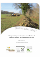 Management Impacts on Ecosystem Service Provision of Landscape Elements: TWECOM Partner Perspectives